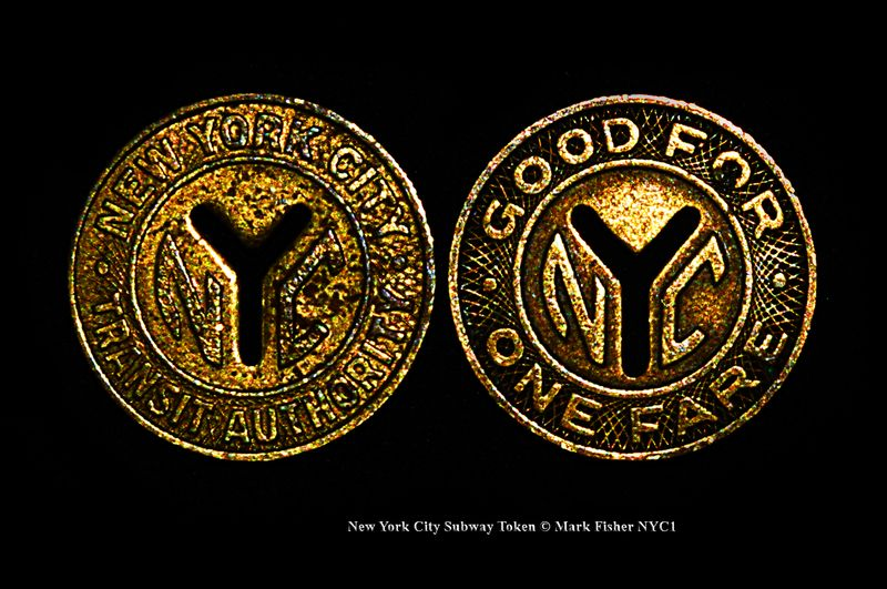New York City Subway Token © Mark Fisher NYC1-0132-Recovered-Recovered-Recovered